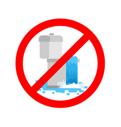 stop toilet is clogged it is forbidden to use vector image
