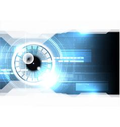 technological eye scanning hud display security vector image