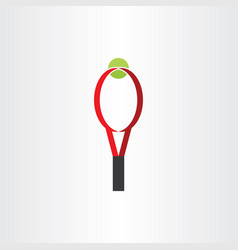 tennis racket and ball clipart logo icon vector image