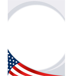 Usa abstract flag round border background vector