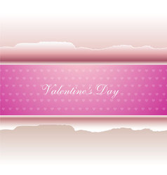 valentines day paper vector image