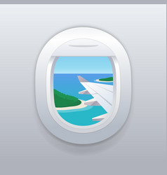 view from airplane window vacation destinations vector image