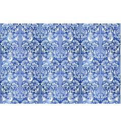 Vintage indigo dyed seamless pattern ethnic vector