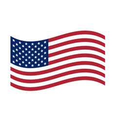 waving flag usa united states america flag vector image