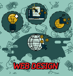 Web design flat concept icons vector