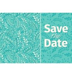 Wedding turquoise invitation template vector