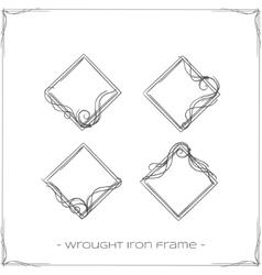 Wrought Iron Frame Four vector