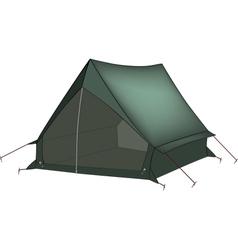 Green tent vector image vector image