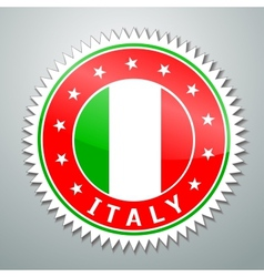 Italy flag label vector image vector image