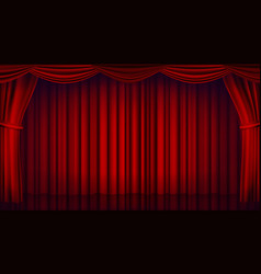 red theater curtain theater opera or cinema vector image