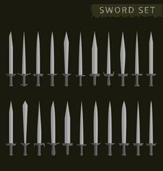 silver sword set vector image