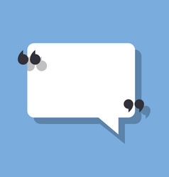 speech bubble and quotation marks vector image vector image