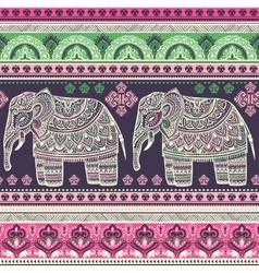 Vintage graphic Indian lotus ethnic vector image vector image