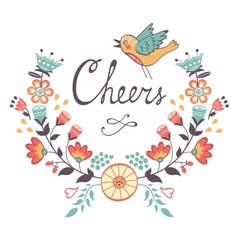 Cheers concept card vector image vector image