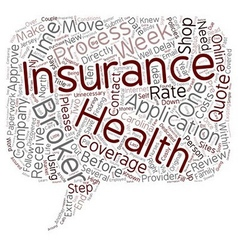 Health Insurance And Insurance Brokers text vector image