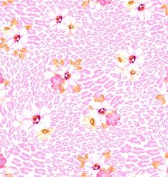 pink pastel flower on animal vector image vector image