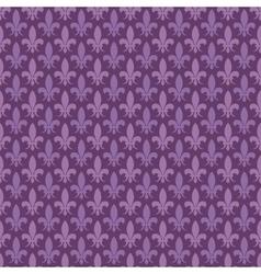 Purple fleur de lis seamless pattern vector image vector image