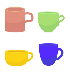 Tee and coffee mug vector