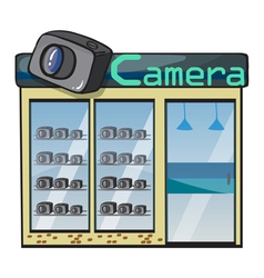 a camera shop vector image vector image