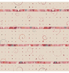 Abstract of triangle dot swirl vector image