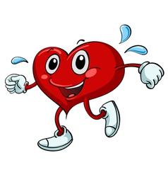 Active Cartoon Heart vector image vector image