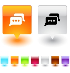 chat square button vector image