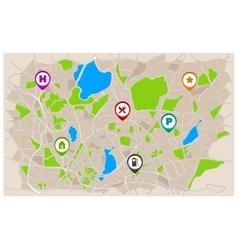 Generic Navigation Map vector image