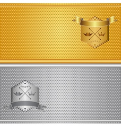 gold silver background vector image