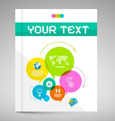 Modern Paper Brochure and Book Layout Cover vector image vector image