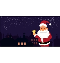 Santa Claus in front of the vector image