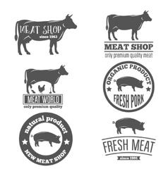 Set of vintage labels logo emblem templates for vector image vector image