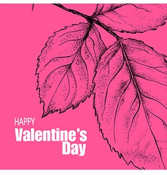 Valentines day design with rose flower vector image