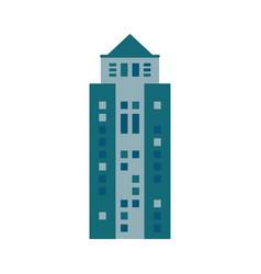 building urban skyscraper icon vector image