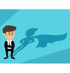 Businessman superman shadow vector image vector image