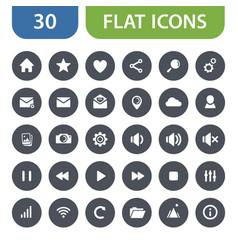 flat web icons vector image