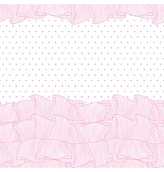 Lace frills seamless pattern vector image vector image