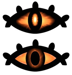 pagan symbol eyes vector image vector image