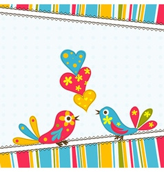 template greeting card scrap vector image