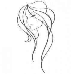 women profile vector image vector image