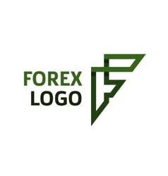 Abstract logo for forex f lettercompanies vector image