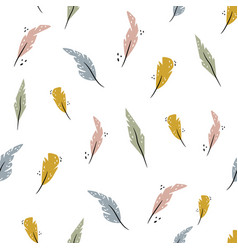 abstract sewamless pattern with colorful bird vector image