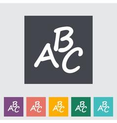 Alphabet icon vector