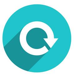 arrow sign reset icon circle button vector image