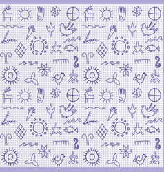 Background with ancient symbols vector