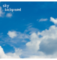 Background with blue sky and clouds vector