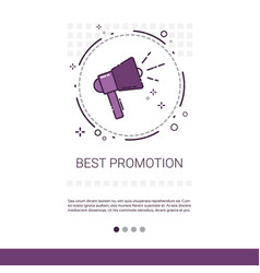 best promotion sale shopping banner with copy vector image