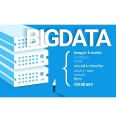 Big data - 4v visualisation vector