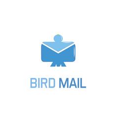 bird mail logo vector image