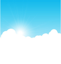 Blue sky background with clouds vector image