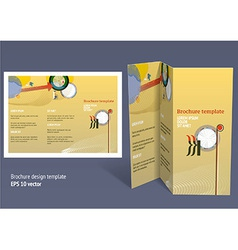 Brochure booklet z-fold layout Editable design vector image